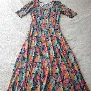 LulaRoe Ana Maxi Dress w/ Fitted Bodice